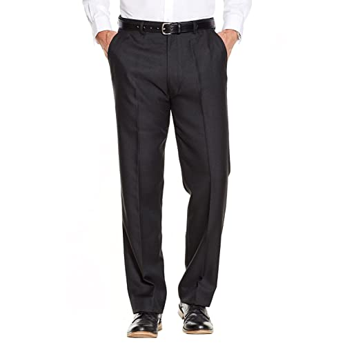 7ab9481b8 Mens Quality Formal Smart Casual Work Trouser Pants Home Office
