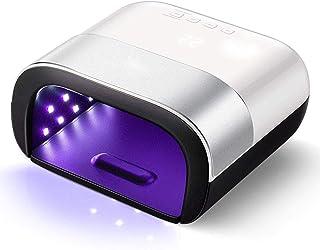 U-A Lámpara De Uñas Led, Secador De Uñas Profesional De 48 W para Máquina De Luz De Curado De Esmalte De Gel, con Sensor Automático Y Pantalla LCD para El Hogar Y El Salón De Uñas