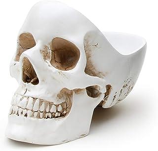 حاوية إكسسوارات صندوق المجوهرات من UK Skull Tidy، باللون الأبيض - مثالية لتخزين المفاتيح والمجوهرات والأدوات المكتبية والع...
