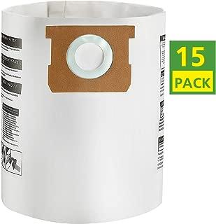 Isingo 15 Pack Shop Vac Bags 9066100 Type E for Shop Vac 5-8 Gallon Vacuum