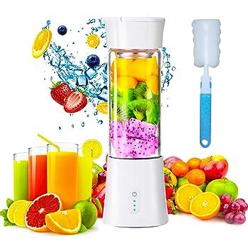 XDSP Licuadora Portátil blenders, Juicer Cup juicer Blender portátil con Cable USB, Acero para Smoothies, Zumos de Fruta y Verdura, Verdura, Smoothies, Milkshake: Amazon.es