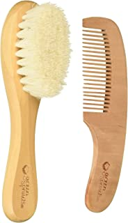 green sprouts Baby Brush & Comb, Natural