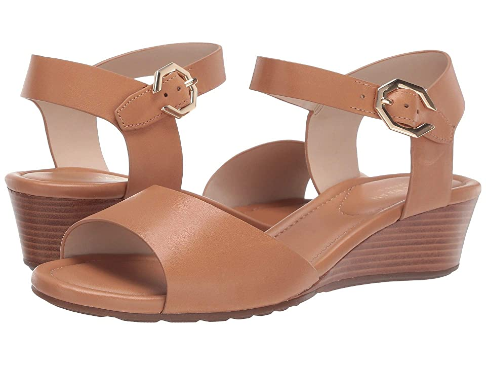 Cole Haan Evette Grand Wedge Sandal (Pecan Leather) Women