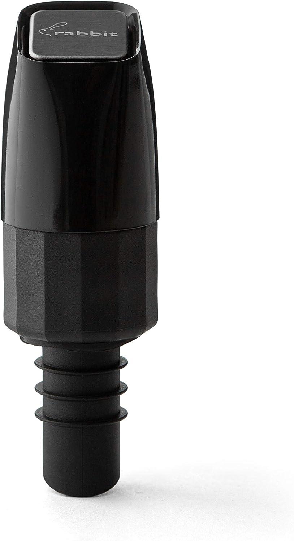 Rabbit Aerating Pourer Las Vegas Mall Dual Bottle Function Black Lowest price challenge Stopper