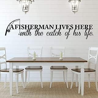 Fisherman Vinyl Wall Decor - 'Catch of His Life