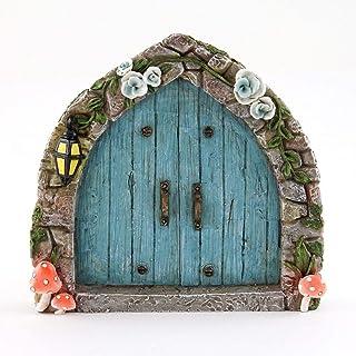 Miniature Dollhouse FAIRY GARDEN - Cobblestone Blue Fairy Door - Accessories