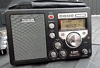 TECSUN S-8800 FM/LW/MW/SW/PLL BCL 短波ラジオ 遠距離受信機 日本語版説明書付属