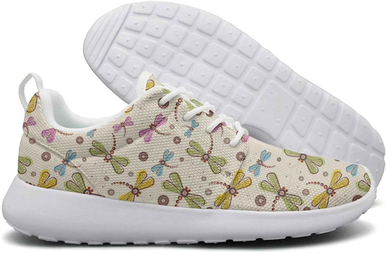 Dragonfly And Flower Art Women Cool Design Running shoes Unique Gift