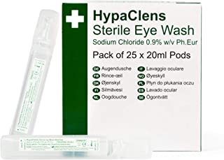 Safety First Aid Hypaclens Emergency Sterile Eyewash Pods 20