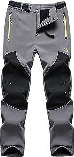 FunnySun Men's Snow Pants Outdoor Water Repellent Windproof Fleece Hiking Ski Cargo Pants