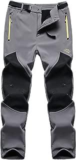 FunnySun Men's Outdoor Water Resistant Windproof Fleece Snow Hiking Pants