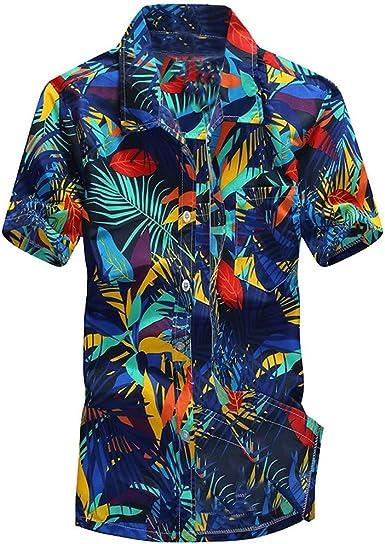 Camisas Hawaianas Hombre Camisas Hombre Manga Corta Tallas ...