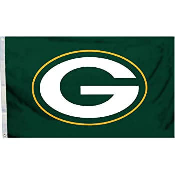 Green Bay Packers NFL Rico Industries 3-Foot by 5-Foot Single Sided Banner Flag with Grommets