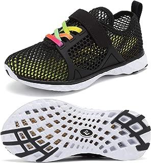 CIOR Boys & Girls Water Shoes Swim Shoes Aqua Shoes Sport Sneakers Light Weight Shoes(Toddler/Little Kid/Big Kid) U118SSXT004-Black-33