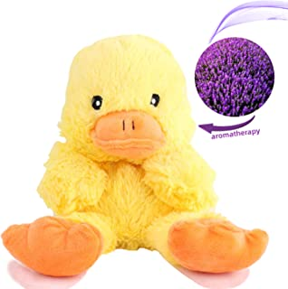 """YunQiXin Soft Preschool Scented Stuffed Animal Plush Toddler Toys Cute Duck, Unisex Baby Child Gifts Microwave Aromatherapy Doll with Lavender Scent (10"""")[Yellow Duck]"""