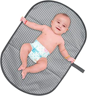 """BlueSnail Portable Changing Pad,Diaper Clutch,Lightweight Travel Station Kit for Baby Diapering Gray (19""""28"""", Gray)"""