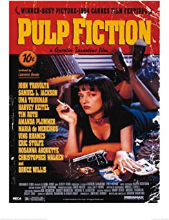 F: 0450 Pulp Fiction Affiche Vintage Retro Anime Card Poster Vintage Poster Home Wall Decor Quentin Tarantino Poster Frameless Painting 50X70Cm