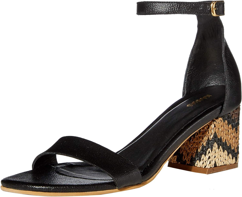 KAANAS Women's Serrano City Slide with Chevron Heel Heeled Sandal