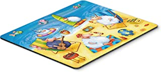 Caroline's Treasures Party Pigs on the Beach Mouse Pad, Hot Pad or Trivet, Multicolor (APH0081MP)