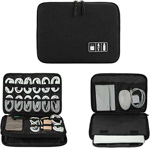 Electronics Organizer, Jelly Comb Electronic Accessories Cable Organizer Bag Waterproof Travel Cable Storage Bag for ...
