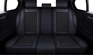 LUCKYMAN CLUB Breathable Car Seat Covers Fit for Most SUV Sedan Truck Nicely Fit for 2018 Chevy Equinox Cruze 2019 Toyota Tacoma TRD PRO Double Cab RAV4 Corolla Camry (Black for The Rear seat)