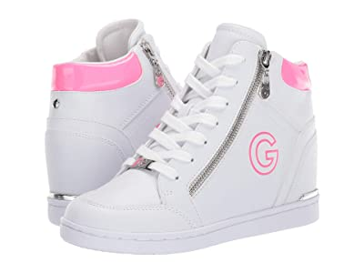 G by GUESS Dillin (White/Neon Pink) Women