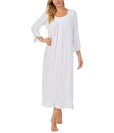 Eileen West Long Sleeve Ballet Nightgown (White) Women