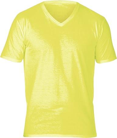 Gildan - Camiseta de manga corta y cuello pico Modelo Premium cotton Unisex Adultos - 100% algodón