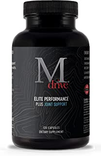 Mdrive Elite plus Joint - Natural T Energizing Support + Joint Health for Energy, Cardio, Recovery, Stress Relief with KSM-66 Ashwagandha, Cordyceps, DIM, Fenugreek, Chromax, Fruite X-B, 120ct