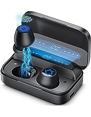 2021新開発」Bluetooth イヤホン ワイヤレス イヤホン Bluetooth 5.1ブルートゥース イヤホン 4000mAh Hi-Fiステレオ AAC対応 300時間連続再生 IPX7防水 CVC8.0ノイズキャンセリング 自動ペアリング…