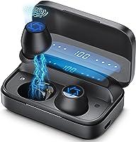 2021新開発」Bluetooth イヤホン ワイヤレス イヤホン Bluetooth 5.1ブルートゥース イヤホン 4000mAh Hi-Fiステレオ AAC対応 300時間連続再生 IPX7防水 CVC8.0ノイズキャンセリング...