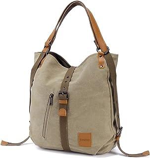 Bolso de hombro JOSEKO de lona Mochila para mujer, bolso convertible de mochila multifuncional para el trabajo, escuela, p...