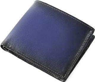 (ラファエロ) Raffaello 一流の革職人が作る スフマート製法で仕立てたスマート仕様のメンズ二つ折財布