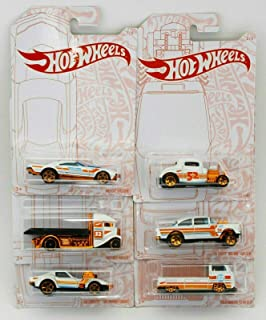 Hot Wheels 2020 Pearl and Chrome Exclusive Muscle Speeder, '32 Ford, Fast-Bed Hauler, '55 Chevy Bel Air Gasser, '68 Corvet...