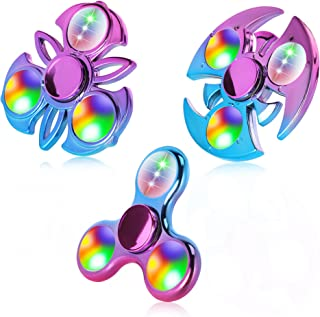 FIGROL Fidget Spinner, 3 Pack Led Light Up Fidget Toys, Finger Toys Hand Fidget Spinner, Stress Relief and Anti-Anxiety To...