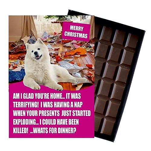 Samoyed Gifts for Christmas Pet Owner or Dog Lover 85 Gram Best Xmas Novelty Boxed Belgian