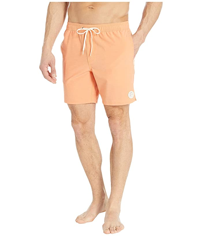Vintage Men's Swimsuits – 1930s to 1970s History ONeill Solid Volley Boardshorts Neon Orange Mens Swimwear $39.99 AT vintagedancer.com