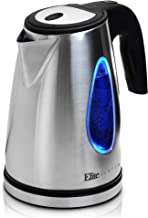Elite Platinum EKT-1271 Electric Tea Kettle Hot Water Heater Boiler BPA Free with LED Indicator, Fast Boil and Auto Shut-Off, 1.7L, Stainless Steel