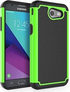 Case for Samsung Galaxy J3 Emerge / J3 2017 / J3 Prime / J3 Mission / J3 Eclipse / J3 Luna Pro/Sol 2 / Amp Prime 2 / Express Prime 2, SYONER [Shockproof] Defender Phone Case Cover [Green]