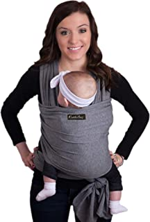 CuddleBug Baby Wrap Sling + Carrier – Newborns & Toddlers up to 36 lbs –..