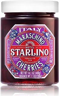 Hotel Starlino Italian Maraschino Cherries 400g Glass Jar   Perfect for Creating Premium Cocktails at Home   Make Deliciou...