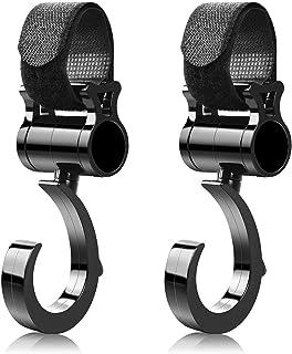 [Amazon限定ブランド] ALLONE(アローン) Minette ベビーカー フック マルチフック 荷物フック 360 回転 黒 日本メーカー ALB-MLTHBK