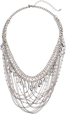 Crystal and Chain Drama Necklace