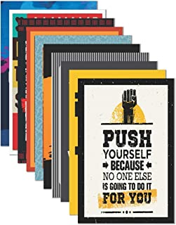 Paper Plane Design Inspirational Wall Poster (45 cm x 30 cm x 0.2 cm) (Pack of 10)