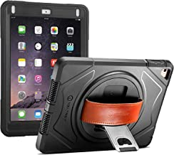 New Trent iPad Case 9.7, 2018(6th gen)/2017(5th gen), iPad Air 2/ iPad Air, Heavy Duty Gladius Full-Body Protective Case with Built-in Screen Protector & Dual Layer Design (Rugged Pro Version)