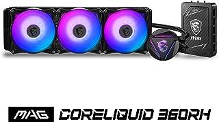 MSI mag CORELIQUID 360RH (AIO CPU Refrigeración Liquida, Radiador 360, Bomba en Radiador, Controladora Multifuncional, 3 x 120 mm Ventiladores ARGB, Intel 1151/1200/2066, AMD AM4/TR4/sTR4/SP3)