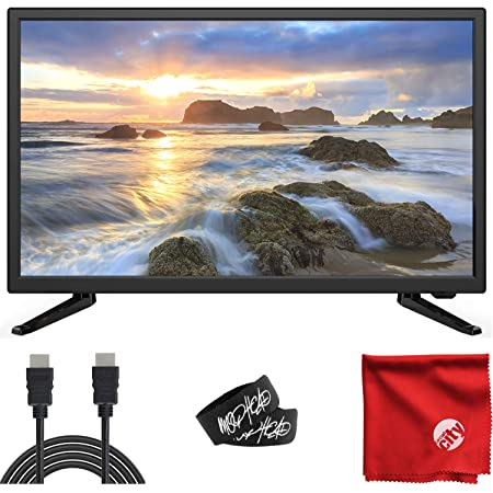 Sansui 24-Inch 720p HD LED Smart TV (S24P28DN) with Built-in HDMI, USB, High Resolution, Digital Noise Reduction, Dolby Audio Bundle with Circuit City 6-Feet 4K HDMI Cable and Accessories