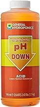 General Hydroponics pH Down Liquid Fertilizer, 1-Quart
