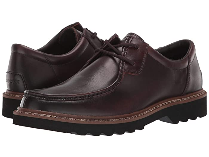 Rockport  Peirson 2-Eye Tie (Dark Bitter Chocolate Leather) Mens Shoes
