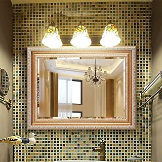 WYXIAN European Fashion Bathroom Mirror with Mirror Frame, Wall Makeup Mirror, Dressing Mirror, Vanity Mirror, Shaving Mirror, Bedroom Decorative Hanging Mirror(500 * 700CM, 600 * 800MM)